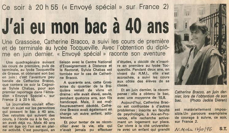 Presse-Bac-40 ans -Sylvie-Chabas-realisatrice-Paris-nice matin